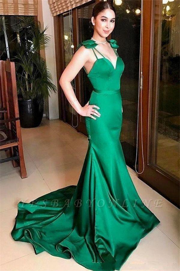 Mermaid Spaghetti-Straps Sweetheart Long Evening Dress