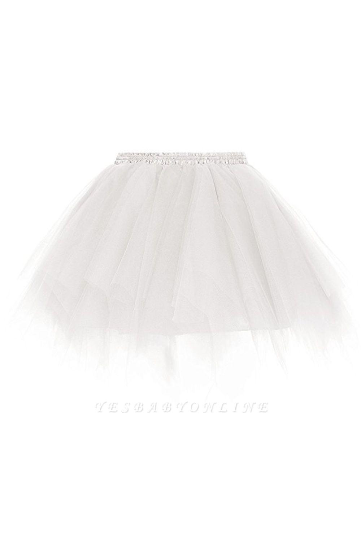 Charming Tulle Short A-line Mini Skirts | Elastic Women's Skirts