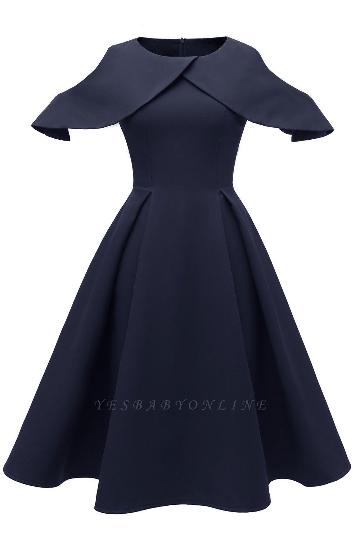 Lovely Scoop neck Half sleeves Front Cross Vintage Short Dresses