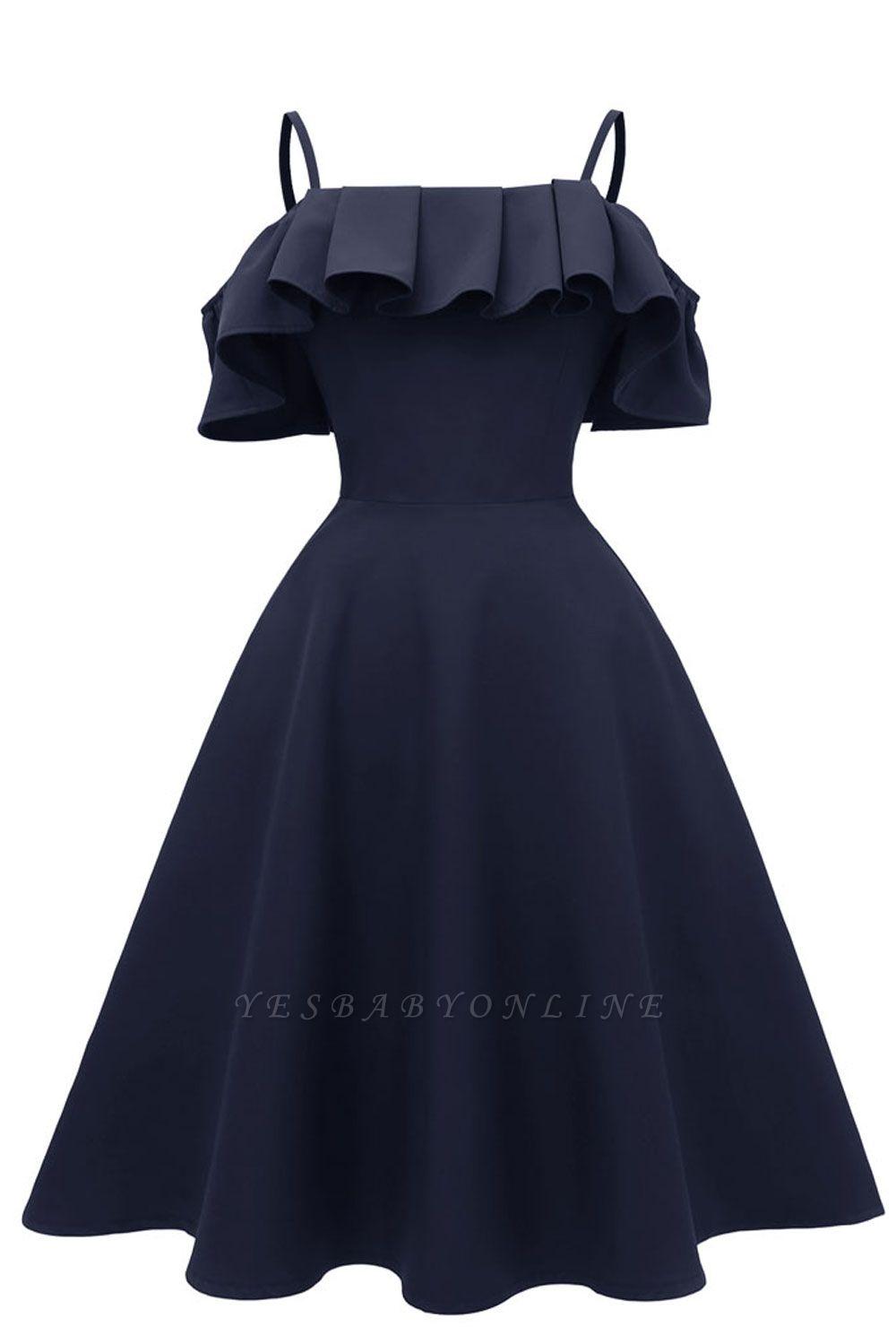 Lovely Spaghetti Straps Cascading Ruffles Vintage Short Dresses