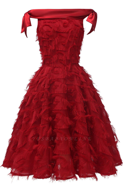 Stunning A-line Artificial Fur Retro Short Party Dress