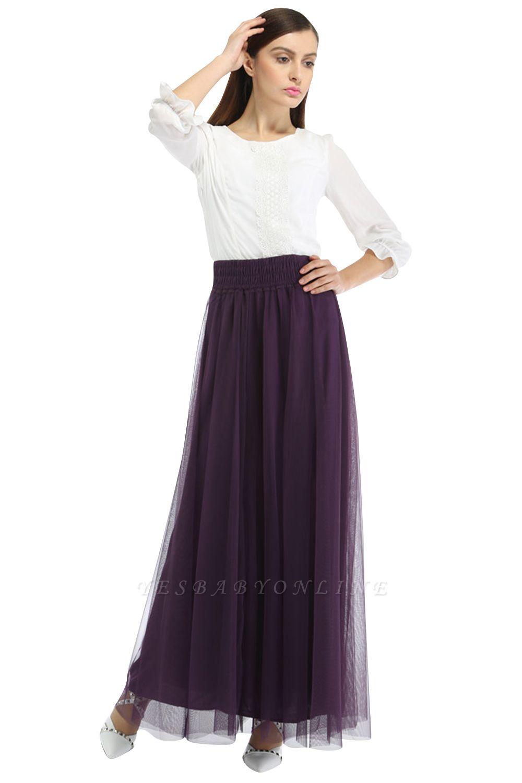 Bena   A-line Tulle Skirt