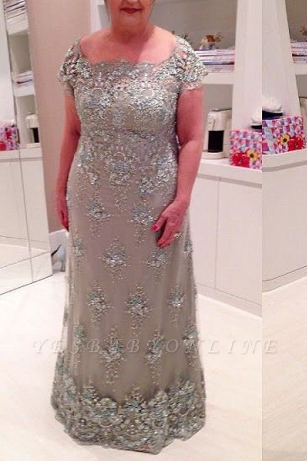 Elegant A-line Long Sleeves Long Lace Mother of Bride Dresses