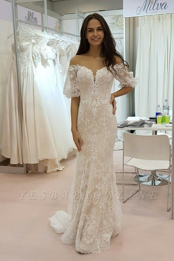 Stunning Strapless Tulle Lace Sweetheart Wedding Dress