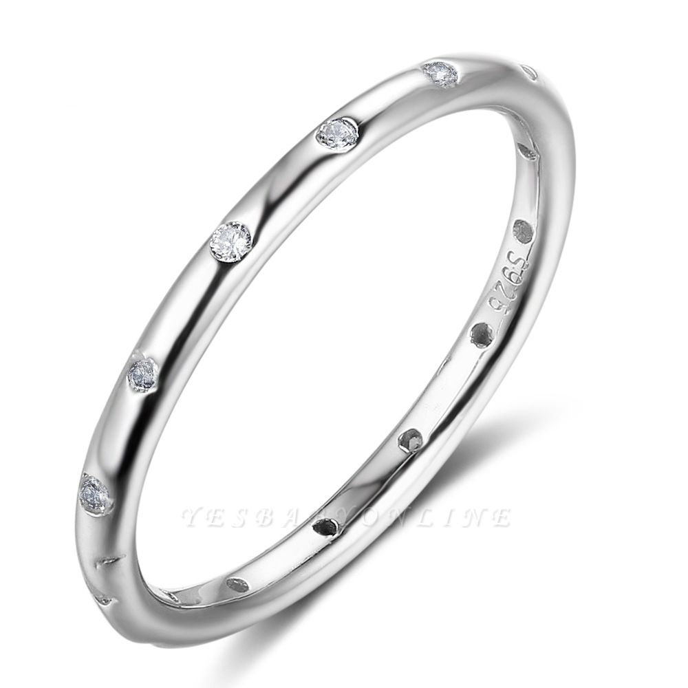Elegant Alloy Plated Rings for Ladies