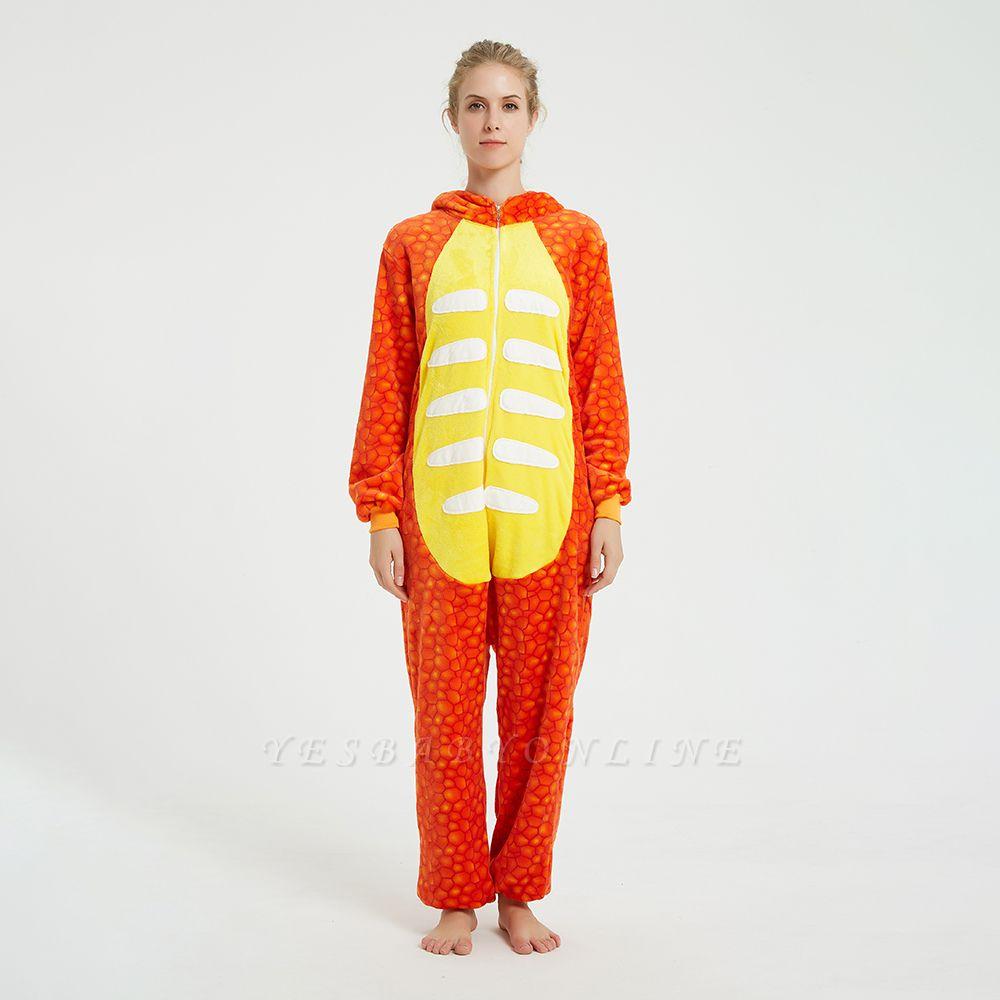Adorable Adult Pyjamas for Women Triceratops Onesie, Orange