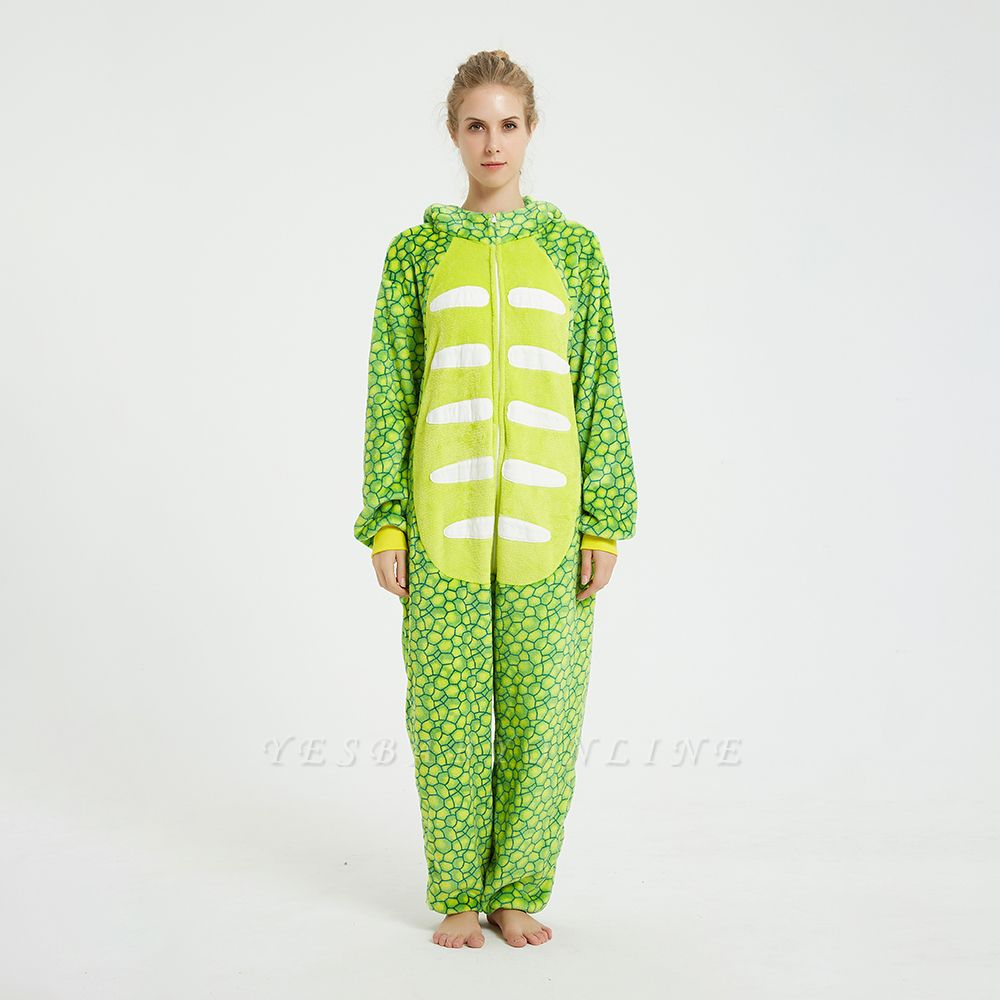 Cute Animal Pyjamas for Women Triceratops Onesie, Green