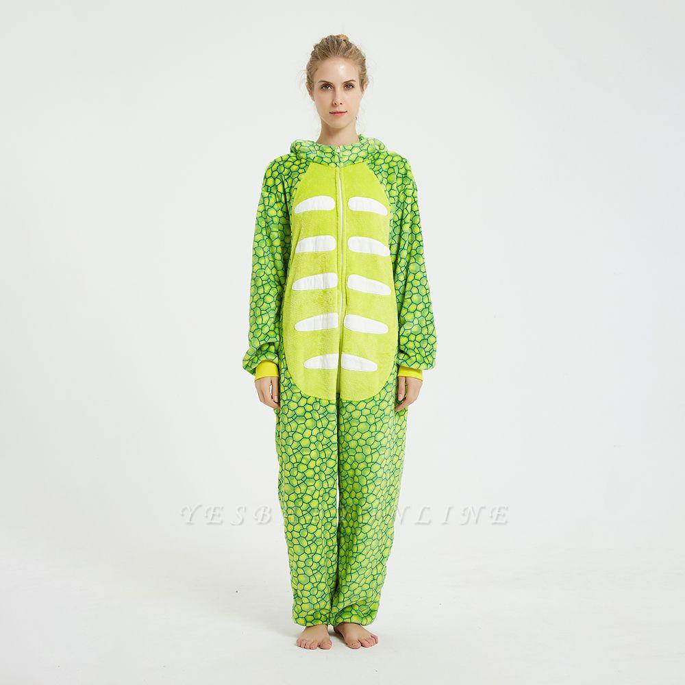 Cute Animal Pyjamas for Women Triceratops Onesie, Green
