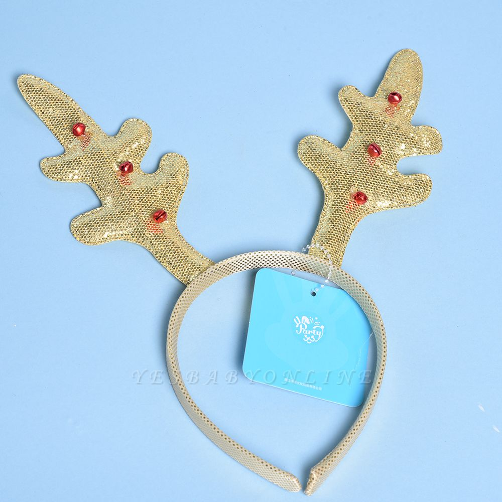 Christmas Decoration Gold Wapiti Deer Headhand