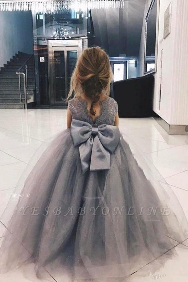 Sweet Affordable Tulle Flower Girl Dress  | Lovely Lace Bowknot Girls Pageant Dresses