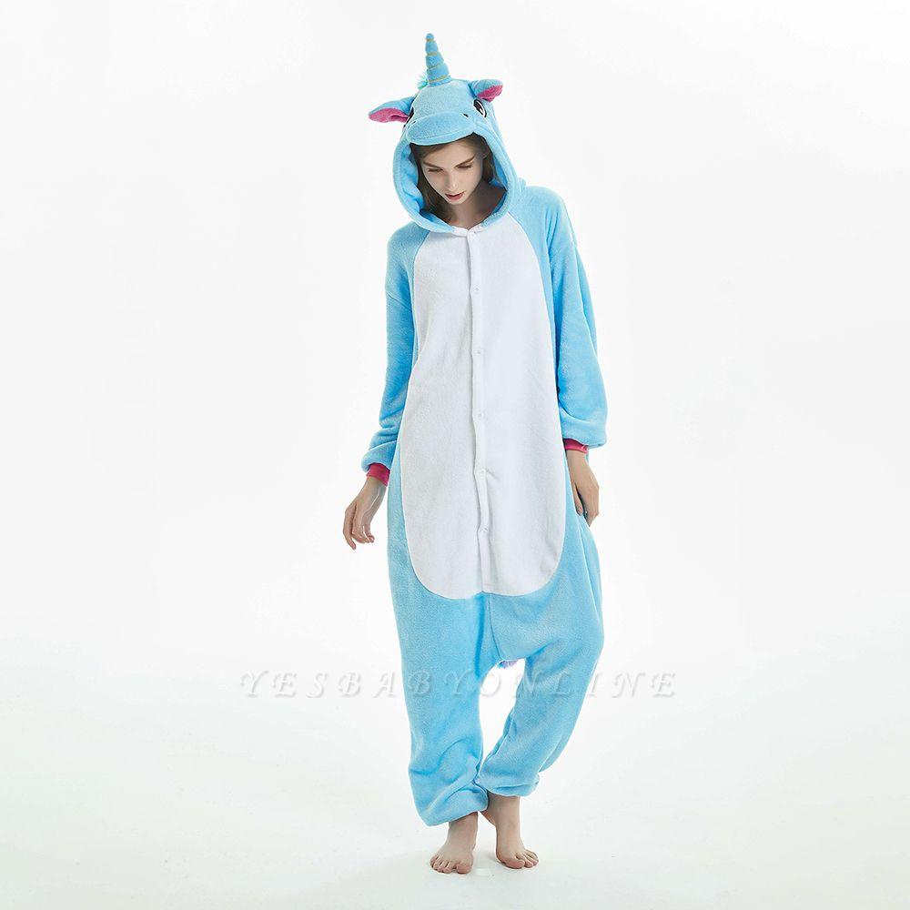 Downy Adult Sky Blue Unicorn Onesies Sleepwear for Girls