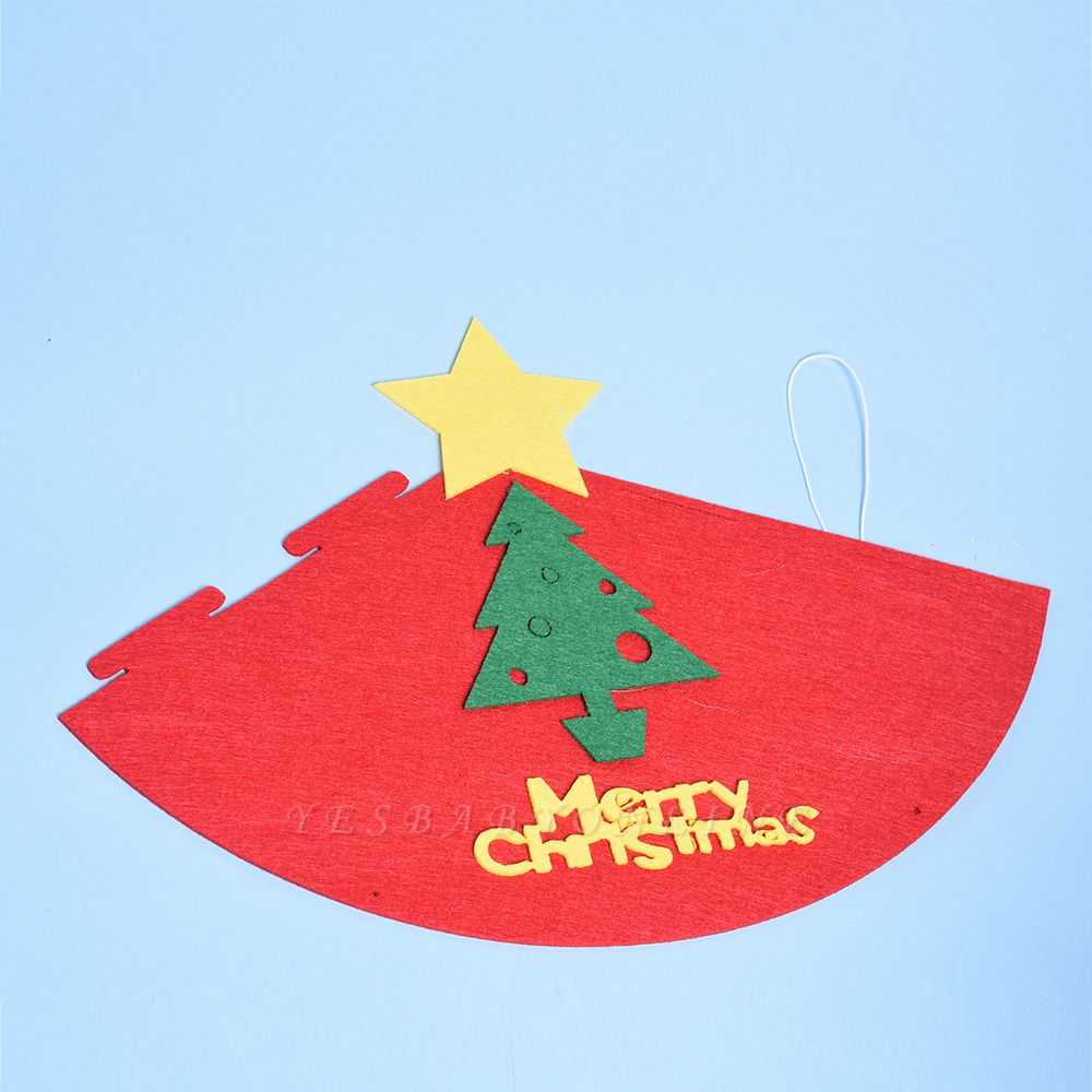 Christmas Hanging Textile Decoration, Xmas Baubles