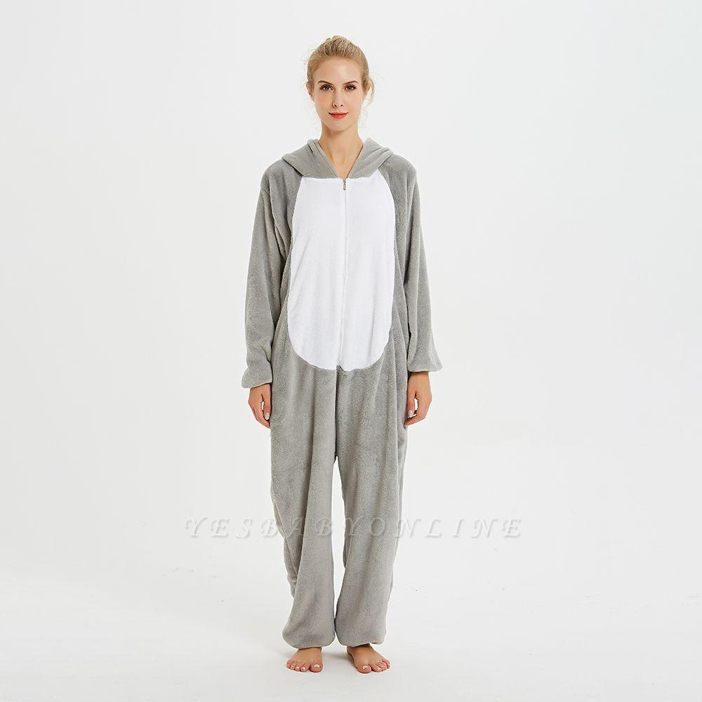 Adorable Adult Pyjamas for Women Long Ears MashiMaro Onesie, Grey