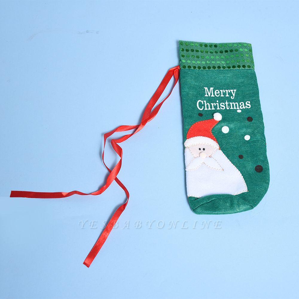 Christmas Decoration, Wine bottle Textile Cover