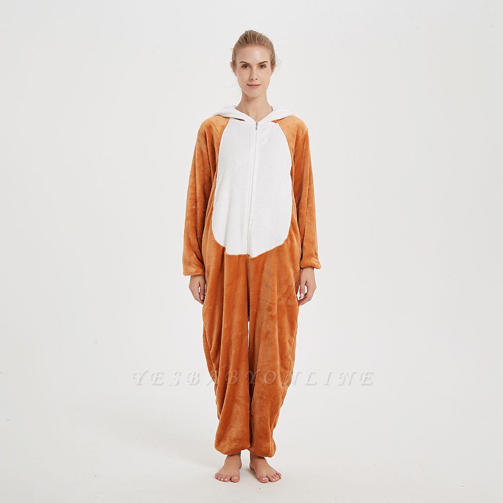Cute Sleepwear for Women Brown Hoodie Onesies