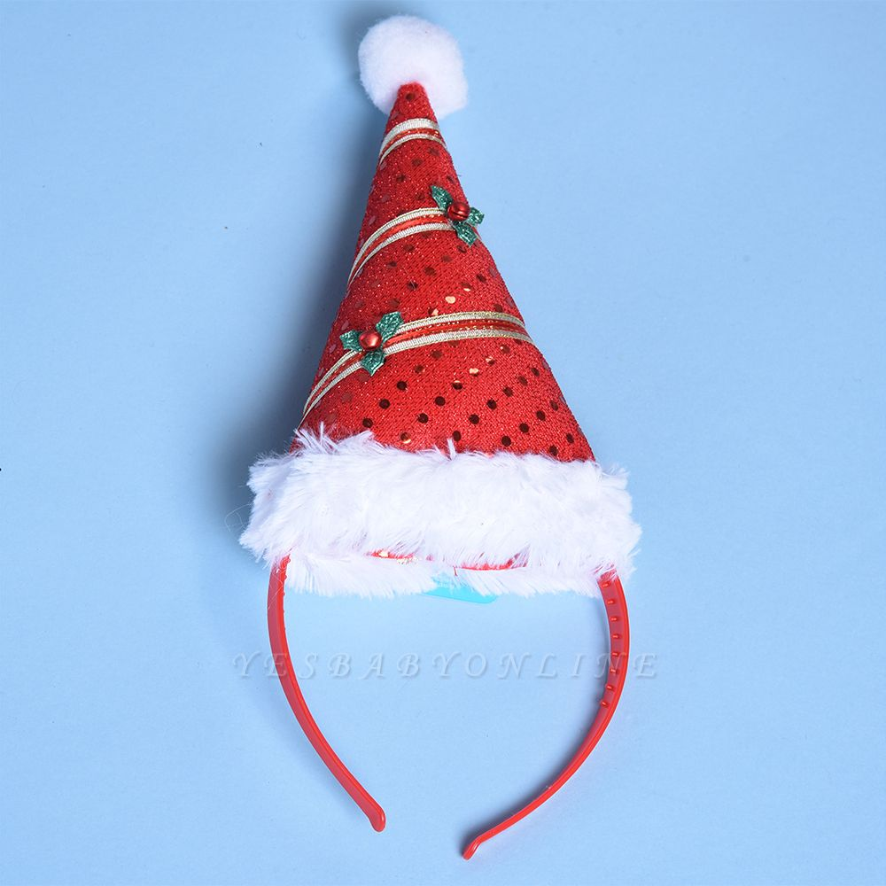 Christmas Ornaments Santa Cap Headhand