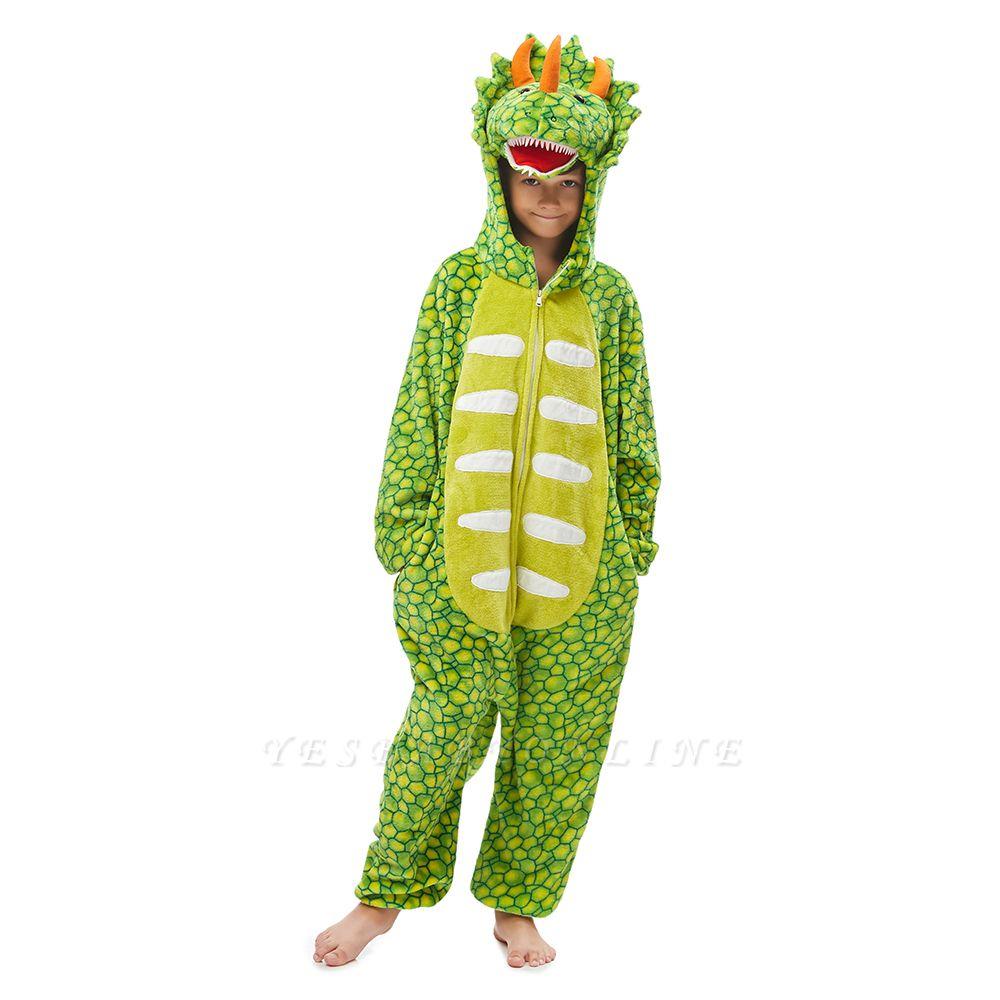 Lovely Animal Sleepwear Dinosaur Onesie, Green