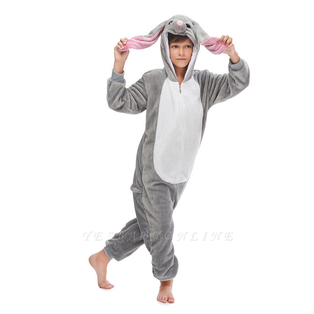 Lovely Animal Sleepwear for Boys MashiMaro Onesie, Grey
