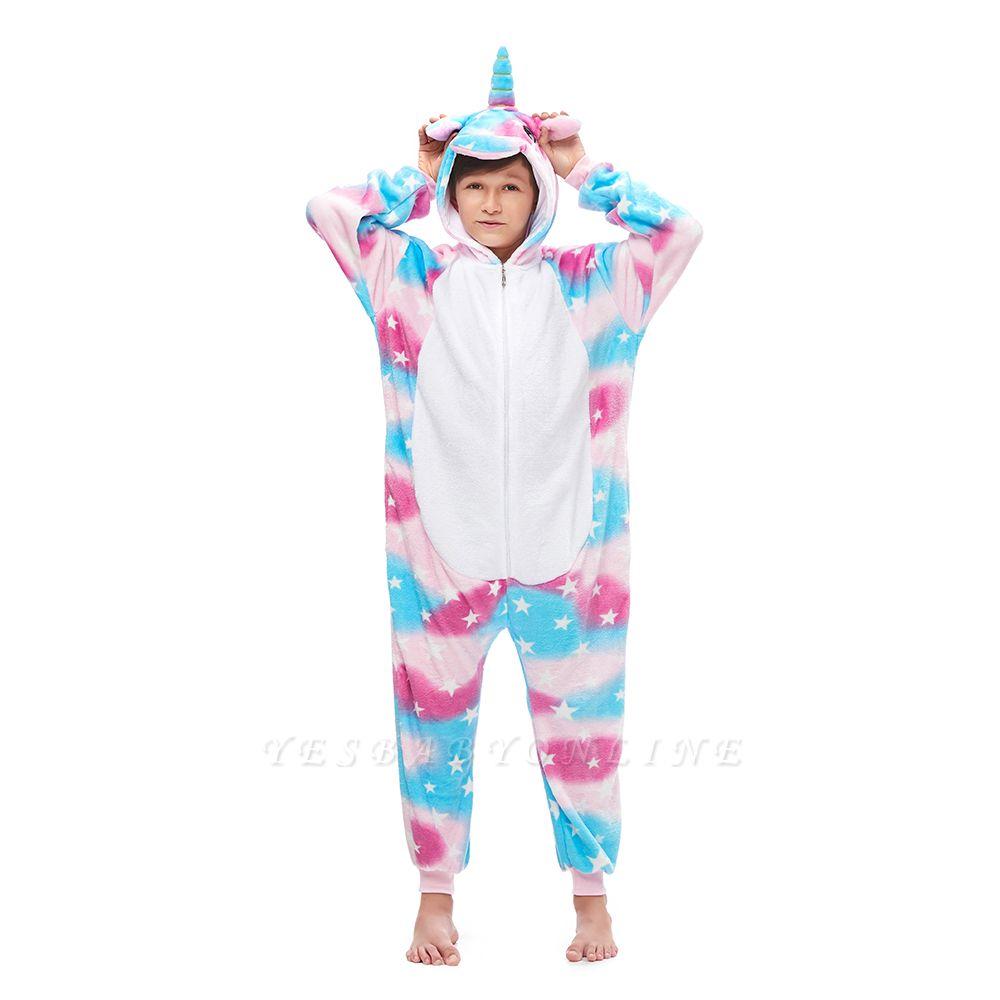 Lovely Pajamas Sleepwear for Kids Unicorn Hoodie Onesies
