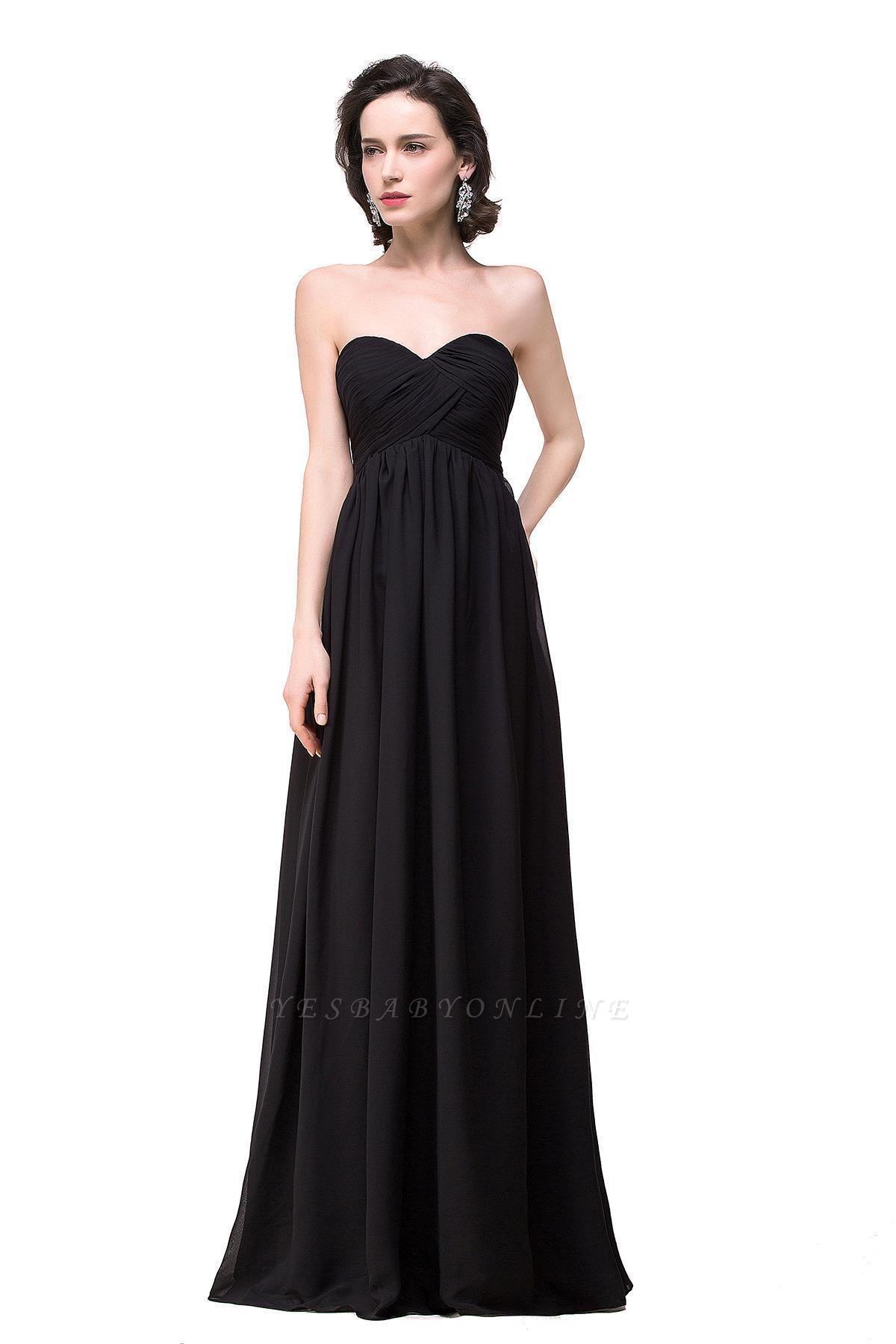 A-line Strapless Chiffon Bridesmaid Dress with Draped
