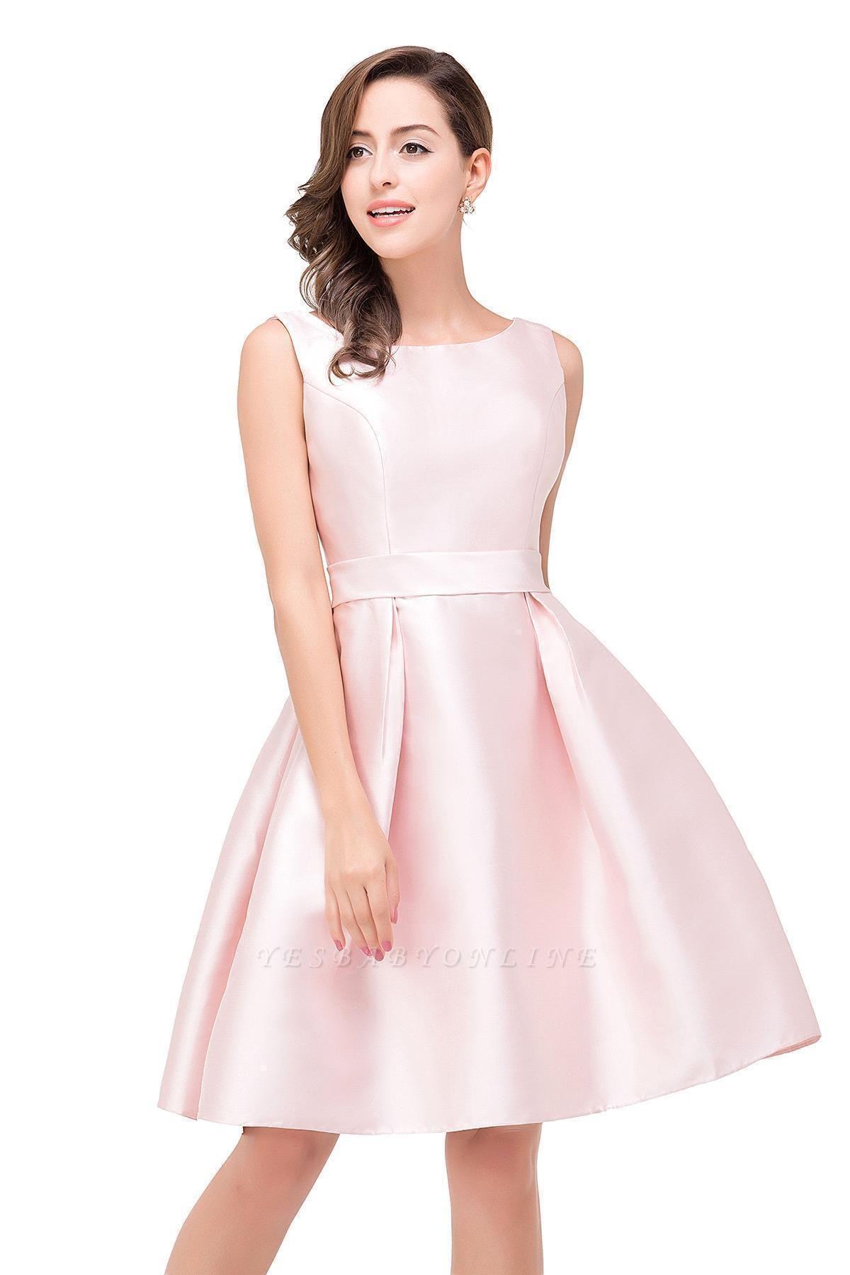 Sleeveless Short A-Line Knee Length Prom Dress