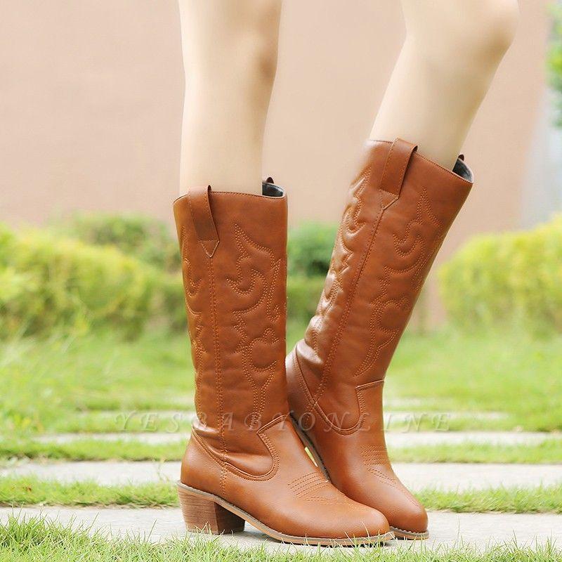 Fashion Brown Knee High Women's Boots