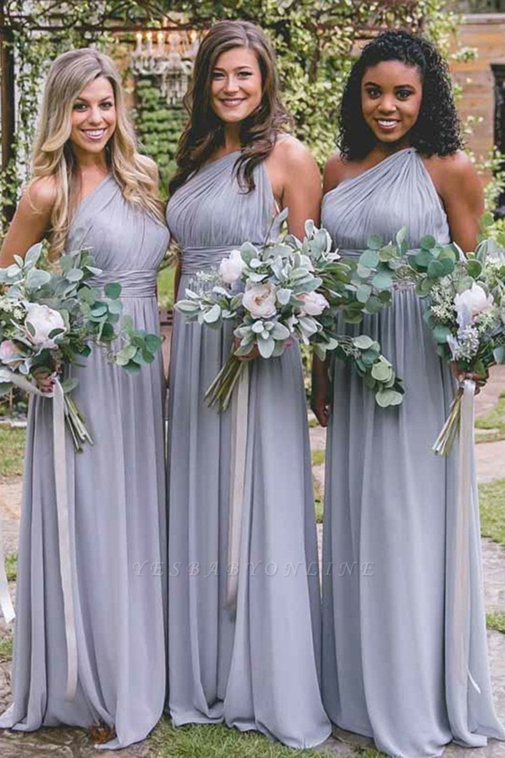 Lilac Convertible Long Cheap Chiffon Bridesmaid Dresses | Sexy Maid of Honor Dresses