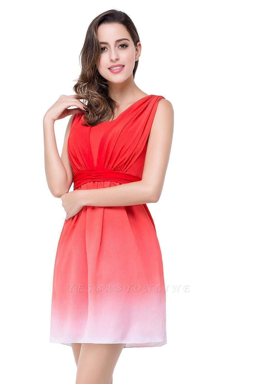 ADRIANA   A-line Jewel Red Bridesmaid Dress