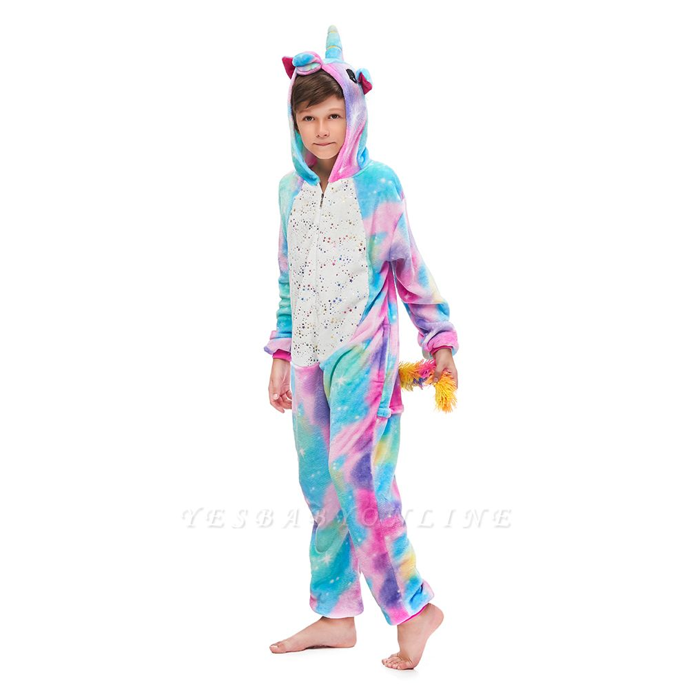 Cute Animal Sleepwear Unicorn Onesie, Rainbow