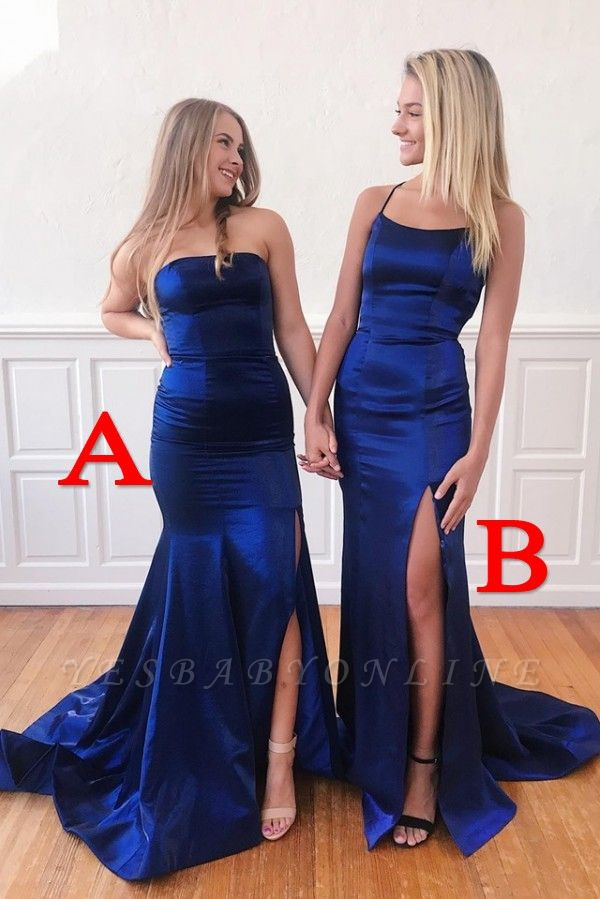 Sleek Long Prom Dresses with Side Slit | Sexy  Fitted Evening Dresses