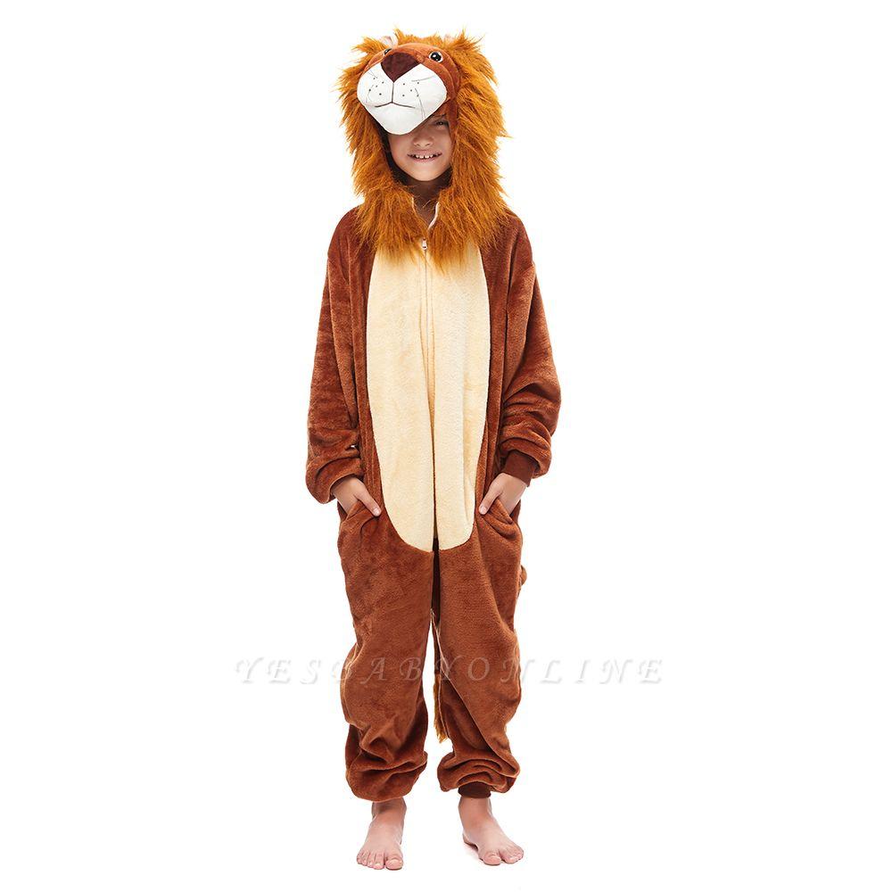 Cute Animal Sleepwear for Boys Lion Onesie, Brown