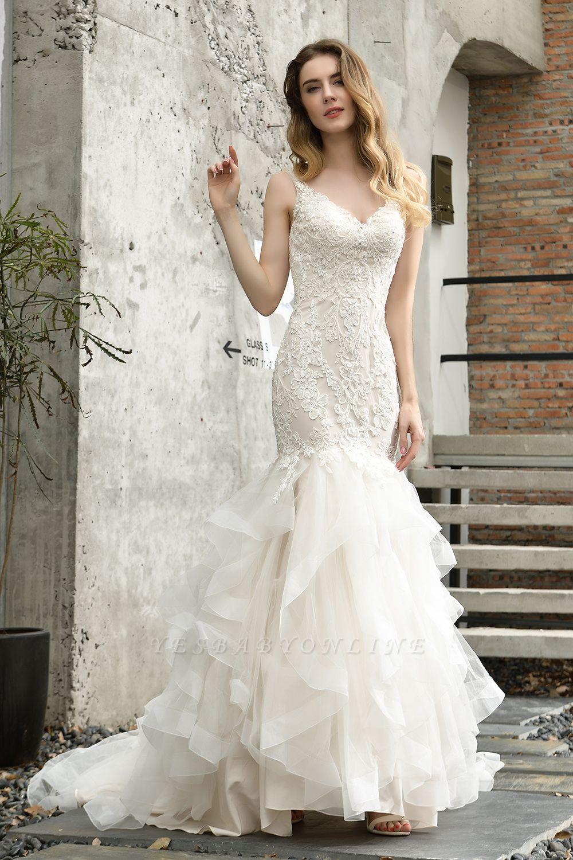 Cheap Floor Length Mermiad Sweetheart Lace Wedding Dresses