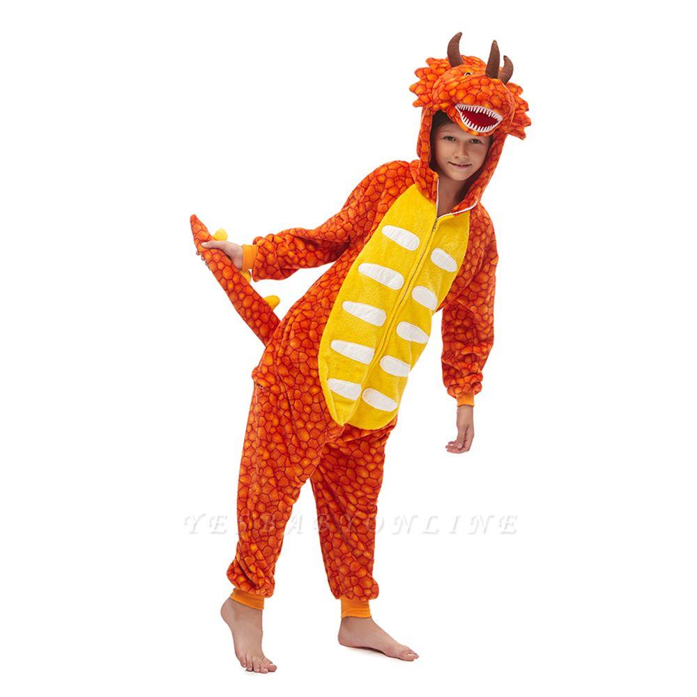 Lovely Animal Sleepwear Unicorn Onesies, Orange