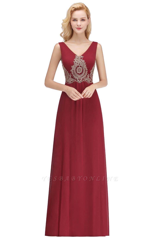A-Line Chiffon Lace Ruffles Evening Dress On Sale