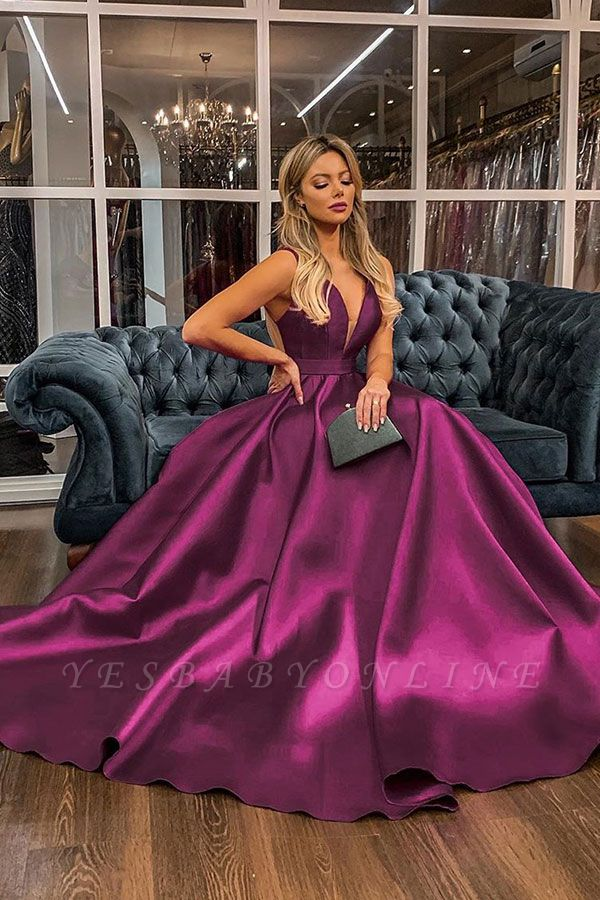 Charming Straps V-neck Illusion-back Sash Ruffles Floor Length A-line Prom Dresses With Back Bow