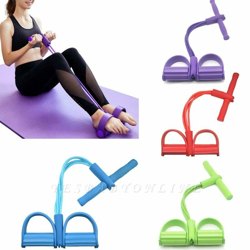 Latex Pedal Exerciser Sit up Pull Rope Expander Elastic Bands Yoga Equipment Pilates | New Fitness Resistance BandsWorkout Tool