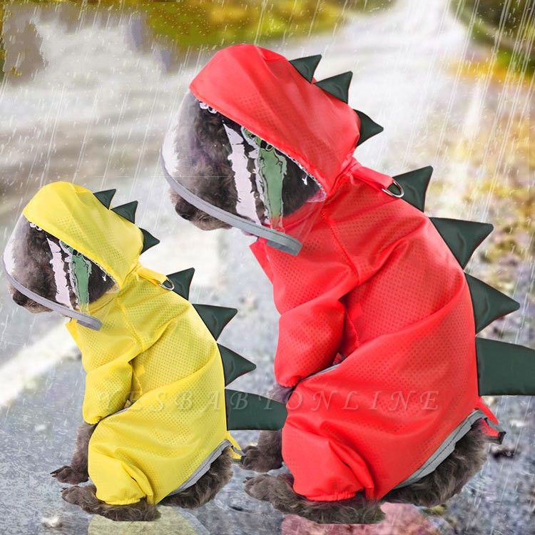 Large Dog Raincoats for Large Dogs with Reflective Strip Hoodie