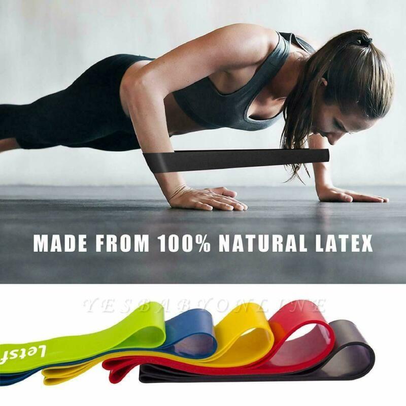 5 PCS Per Set Elastic Rubber Resistance Yoga Stripes With Bag