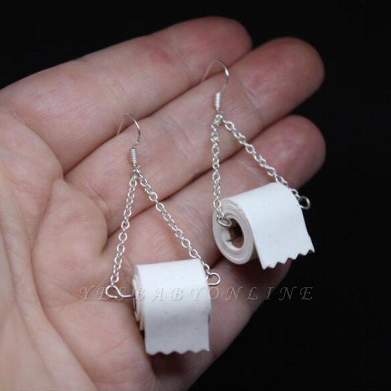 Toilet Paper Earrings Most Memorable Gift of 2020