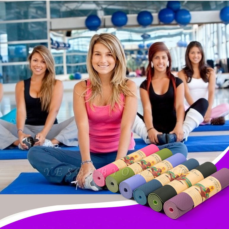 High Density Exercise Fitness Yoga Mat | Workout Ma for Yoga Pilates