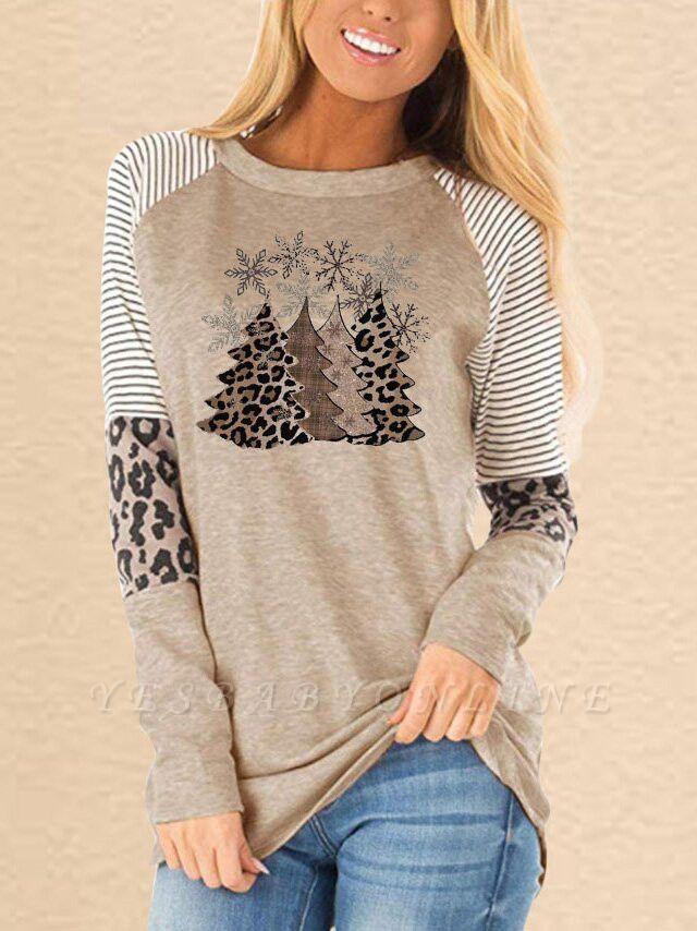 Leopard Christmas Long Sleeve T-Shirt