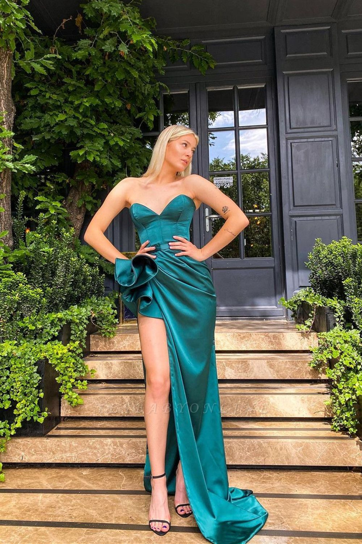 Sexy Sleeveless slim Split front Evening Dress