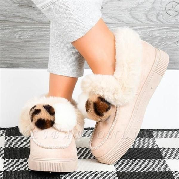 Fashion Wool Cotton Shoes Women Winter Warm Plus-Size Boots On Sale
