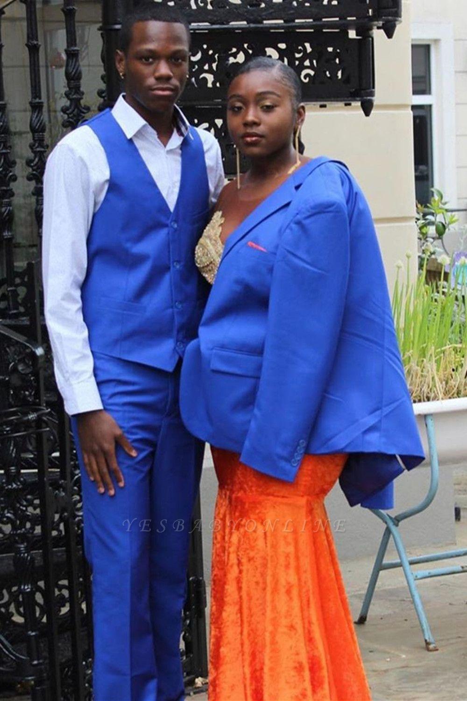 Sweetheart Appliques Organe Prom Dress Mermaid Evening Maxi Dress