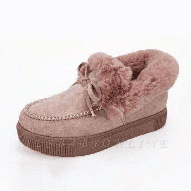 Fashion Daily Round Toe Fashion Warm Fur Flat boots On Sale On Sale