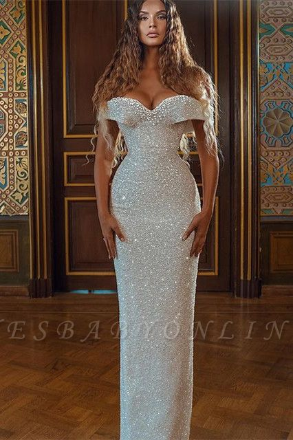 Sparkly Sequined Sheath Sweetheart Prom Dress On Sale