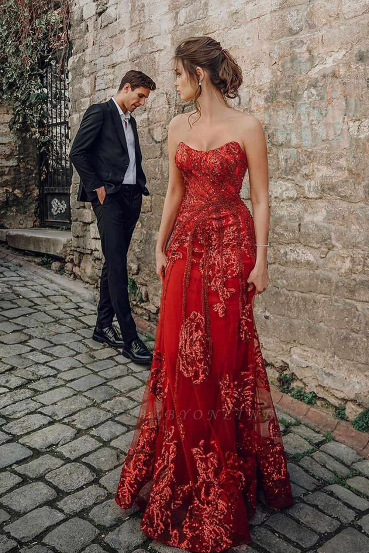 Floor Length Tulle Sweetheart Floral Partten Prom Dresses