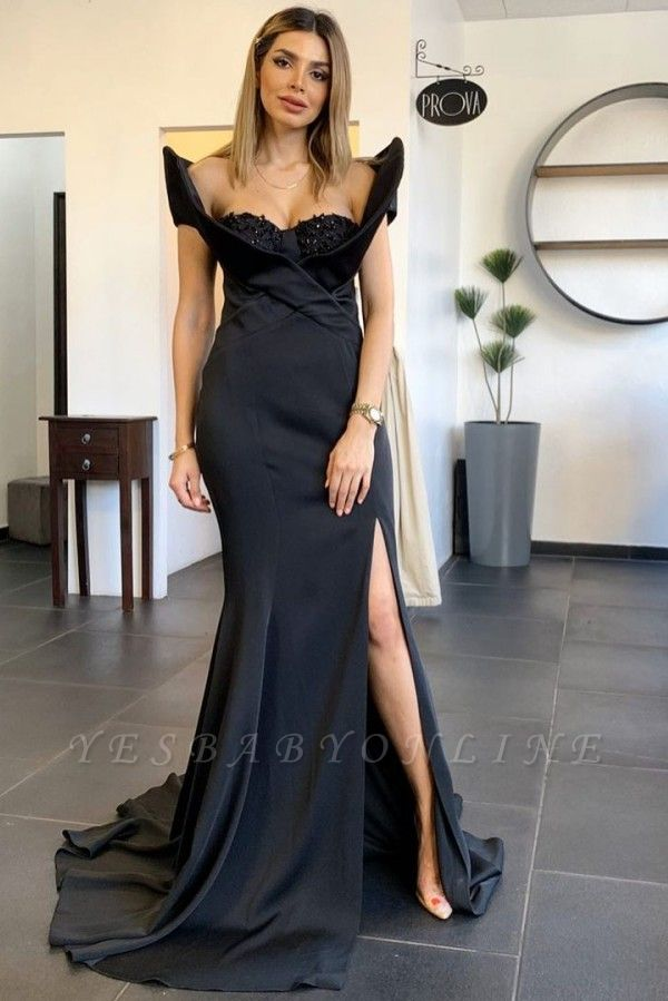 Stylish Mermaid Satin Lace Prom Dress with Beadings