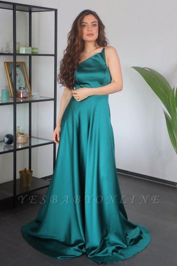 Asymmetrical One-Strap Satin Prom Dress On Sale