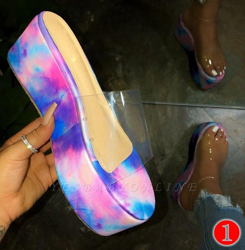 2021 Ladies Summer Platform Sandals New Arrival Women Outdoor Slippers Flat Shoes Ladies Shoes